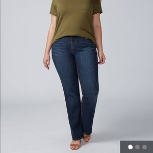 Lane Bryant High Waisted Distinctly Boot jeans